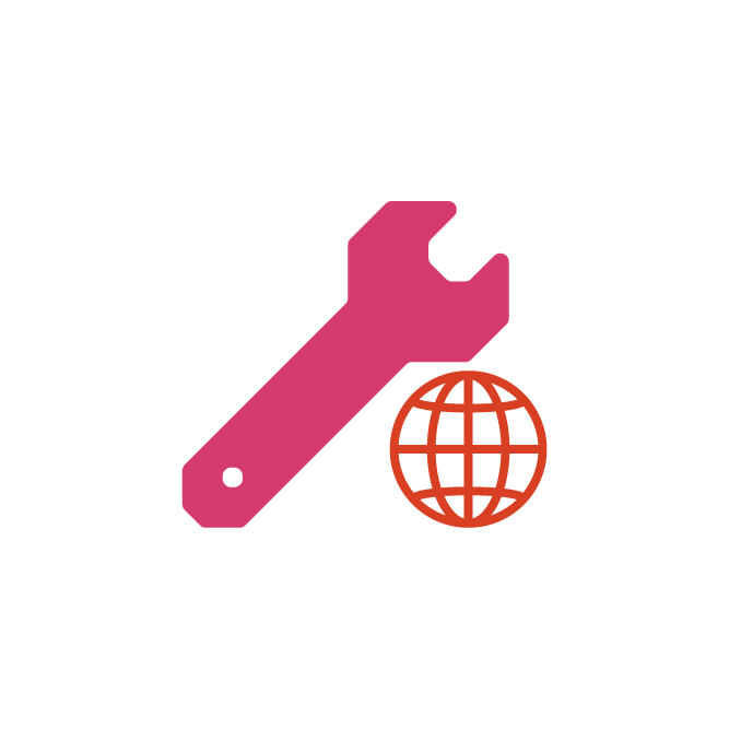 wrench with web icon