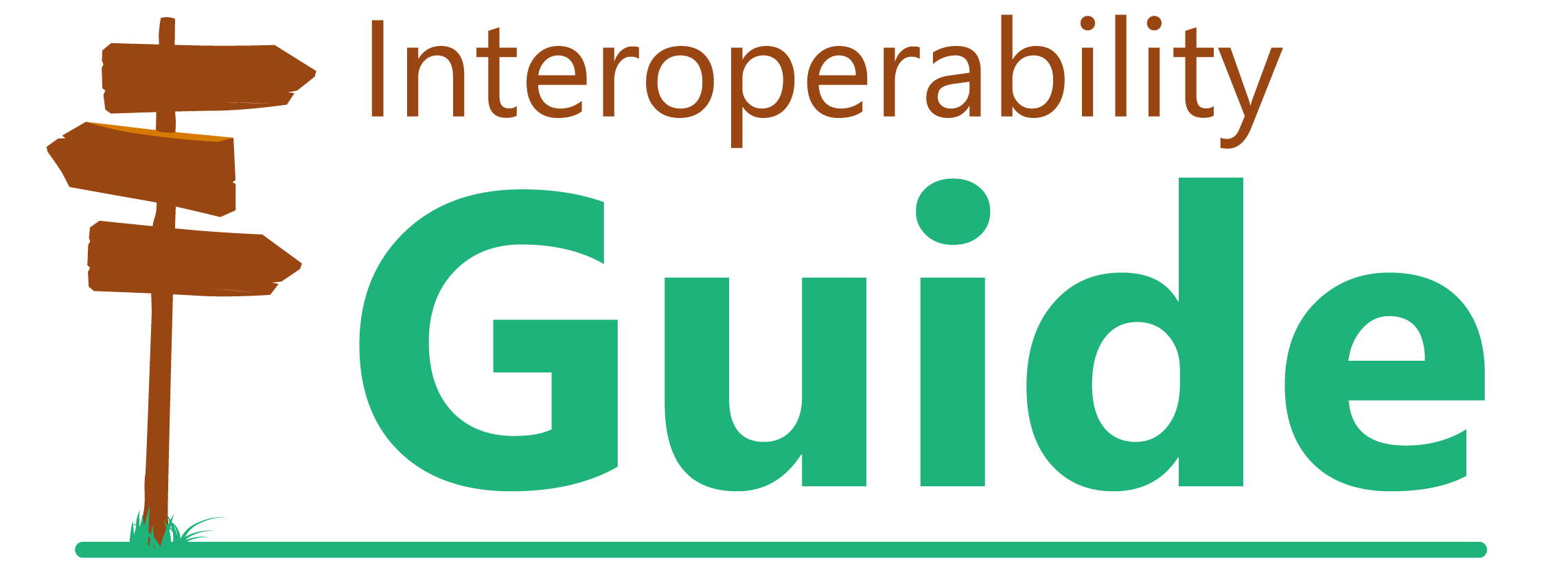 signpost and text 'Interoperability Guide'